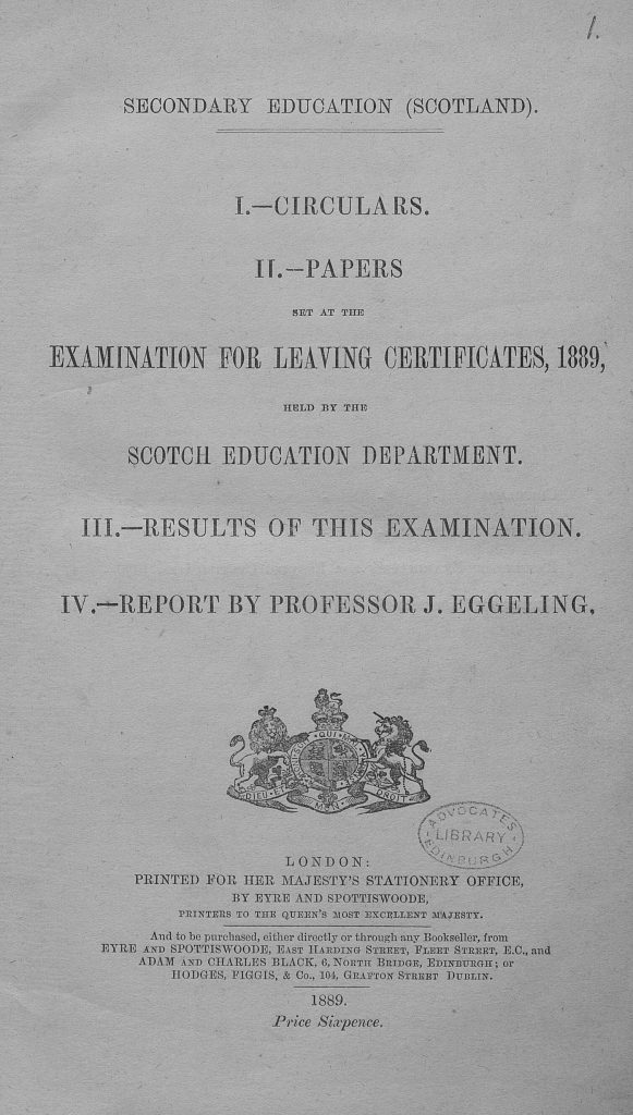 Scottish School Exam Papers