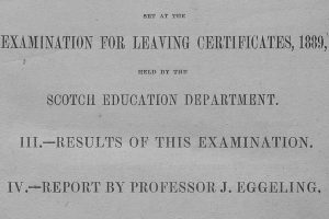Scottish School Exam Papers, 1888-1963