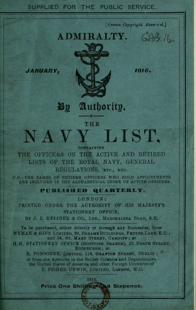 British Navy Lists