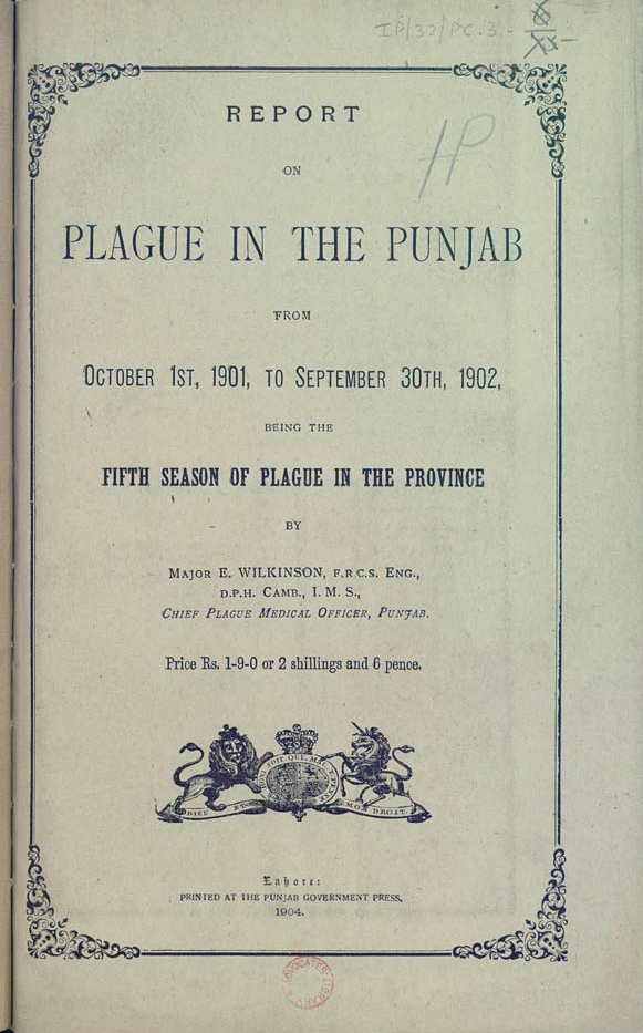 Report on Plague in the Punjab