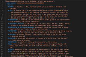 High Performance Computing meets Encyclopaedia Britannica