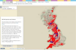 Mapping quarries and collieries