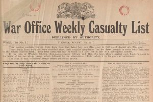 Weekly Casualty Lists